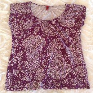 Purple & White Patterned Shirt